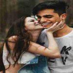 girl kisses boy after giving her number